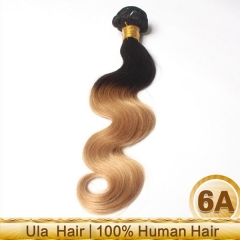 Ula hair 12-26 Inch #1b/27 Ombre Body Wave Remy Hair Weave 100g/bundle