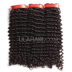 Ula Hair 7A Grade Peruvian Virgin Hair Deep Curly 3Bundles/Lot Peruvian hair Curly Deep Hair Extension