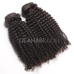Ula Hair 13A Kinky Curly Human Hair Top Quality Malaysian Virgin Hair Extensions Malaysian Kinky Curly Virgin Hair 3Bundles/lot