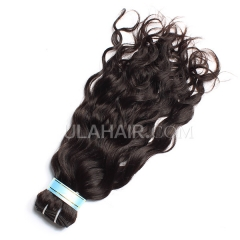 Ula Hair 7A Peruvian Virgin Hair Natural Wave 1Pc Unprocessed Natural Black Color No Shedding Human Peruvian Hair