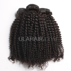 Ula Hair 7A Peruvian Virgin Hair Kinky Curly 3Bundles/lot Peruvian Human Hair Kinky Curly Virgin Hair Extensions