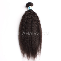 Ula Hair 7A 1PC Grade Peruvian Virgin Hair Kinky straight Human Hair Extensions Peruvian Kinky Straight Virgin Hair