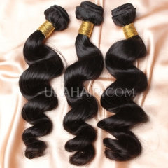 【8A 3PCS】Ula Hair New 8A 3 Bundles Deal Brazilian Virgin Hair Loose Wave Wavy