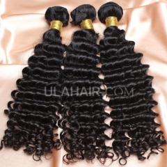 【8A 3PCS】Ula Hair New 8A 3 Bundles Deal Brazilian Virgin Hair Deep Wave Wavy