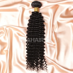 【8A 1PCS】Ula Hair 8A 1pc Grade Brazilian Virgin Wavy Kinky Curly Hair 8A 1pc Grade Brazilian Virgin Hair Human Hair Extensions Kinky Curly Virgin Hair