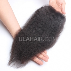 Ula Hair 13A Malaysian Virgin Human Hair Lace Closure Kinky Straight Lace Closure Malaysian Virgin Hair Retail 1Pc