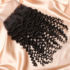 14A Ula Hair Peruvian Kinky Curl Lace Closure Virgin Human Hair Lace Closure Lace Closure Peruvian Virgin Hair Lace Closure Retail 1Pc