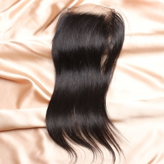 8A Ula Hair Brazlian Straight Lace Closure Virgin Human Hair Lace Closure Lace Closure Straight Virgin Hair Lace Closure Retail 1Pc