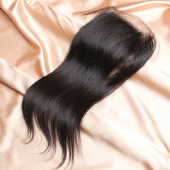 14A Ula Hair Peruvian Straight Lace Closure Virgin Human Hair Lace Closure Lace Closure Straight Virgin Hair Lace Closure Retail 1Pc