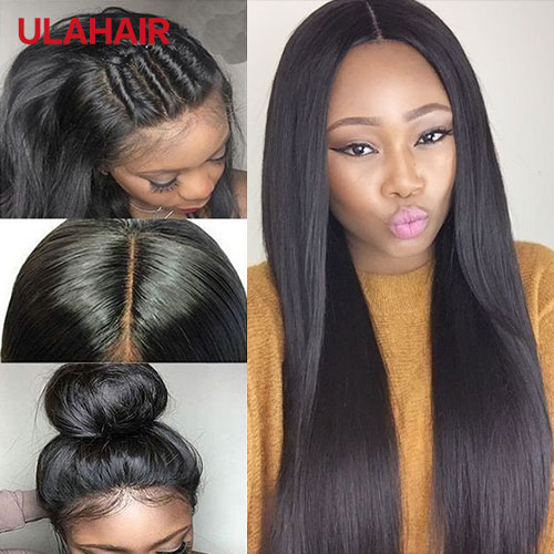 Ula Hair 7A Lace Front Wigs 150% Density Straight Virgin Hair Lace ...