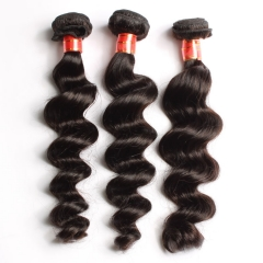 【12A 3PCS】Peruvian High Quality Loose Wave Virgin Human Hair 3 Bundles a lot Free Shipping