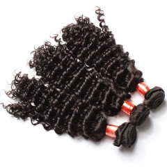 【12A 3PCS】Malaysian Deep Wave Curly Hair 3 bundles Virgin Human Hair 3 Bundles Free Shipping