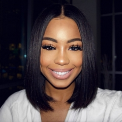 13A PrePlucked Lace Front Wig 150% Density Straight Short BOB Hair Virgin Hair Lace Frontal Human Hair Middle Part Wigs For Black Women Hair