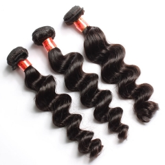 【12A 4PCS】Peruvian Loose Wave Virgin Unprocessed Human Hair Bundles No Shedding No Tangle Free Shipping