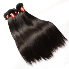 【12A 4PCS】Straight Peruvian Virgin Human Hair Bundles Unprocessed Mixed Length No Shedding Free Shipping