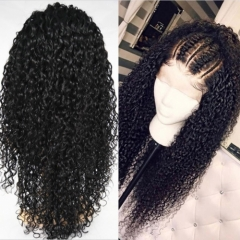13A Grade Deep Curly 13x4 Lace Front Wigs 150% Density Virgin Lace Frontal Natural Hair Hand-tied Wigs