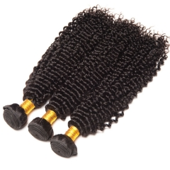 【13A 3PCS】Peruvian Hair Deep Wave Virgin Curly Hair Bundles Natural Black Peruvian Virgin Human Hair Free Shipping