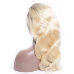 13A Grade 1b-613# Body Wave Blonde Color 13x4 Lace Front Wigs 150% Density Virgin Natural Human Hair Hand-tied Wigs Customize in 7 Days!