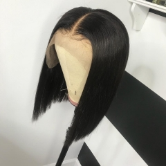 13A Lace Front Wig 150% Density Straight Short BOB Hair Virgin Hair 13x4 Lace Frontal Human Hair Middle Part Wigs For Black Women Hair