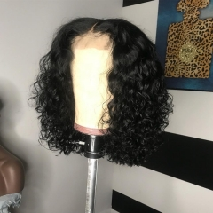 New Arrival! 13A 180% Density Heavy-full Curly Bob Lace Frontal Curly Wig Human Virgin Hair