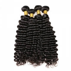 【13A 4PCS】Malaysian virgin hair deep wave human Malaysian Curly Hair Bundles mixed length Free Shipping
