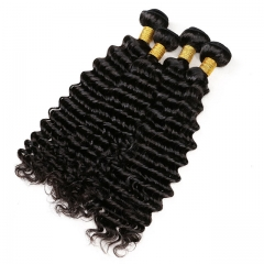 【13A 4PCS】 Deep Wave Virgin Hair Peruvian Human Peruvian Curly Hair Bundles mixed length Free Shipping