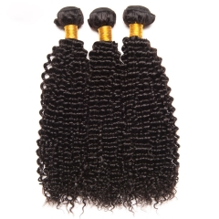 【13A 3PCS】Deep Wave Bundles Brazilian Hair Weave Bundles 100% Human Hair Bundles Virgin Hair Bundles Natural Color
