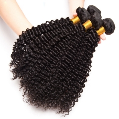【13A 4PCS】Brazilian Deep Curly Virgin Hair Human Brazilian Curly Hair Bundles Mixed Length Natural Color