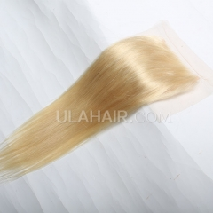 #613 Straight Human Hair Lace Closure Straight Lace Closure Virgin Hair Retail 1Pc
