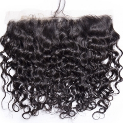 【13A】 Italy Curl Lace Frontal Closure Human Hair 13x4 Lace Frontal Closure
