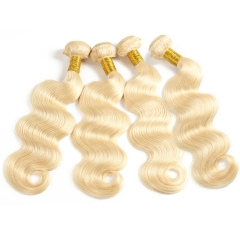 【12A 3PCS】Brazilian #613 Blonde Body Wave Hair Bundles 3pcs 100% Human Hair #613 Body Wave Hair Extension