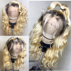 【New Arrival】 13A Grade 1b-613# Loose Wave Blonde Color 13x4 Lace Front Wigs 180% Density Human Hair Hand-tied Wigs Customize in 7 Days!