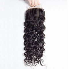 Ula Hair 13A Italy curl Virgin Human Hair Lace Closure Virgin Hair 1Pc