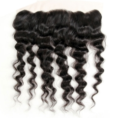 【12A】 Loose Wave Lace Frontal Closure Human Hair 13x4 Lace Frontal Closure
