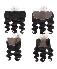 【12A】Body Wave 13x6 Lace Frontal Closure Natural 1B# Color