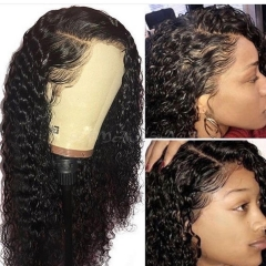 【In stock】13A Deep Wave 13x6 Lace Front Wigs 150% Density Lace Frontal Virgin Human Curly Hair Lace Wigs