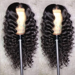 13A Loose Wave Hair 360 Lace Frontal Wigs 150% Density Virgin Human Hair Frontal Wig Ponytail Style Wig